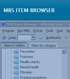 MBS item browser
